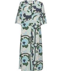 solmu karuselli jurk knielengte groen marimekko