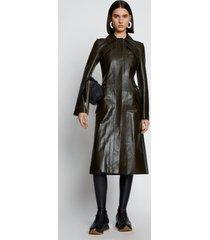 proenza schouler zip leather coat fatigue/green 12