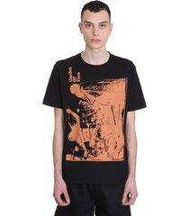 raf simons t-shirt in black cotton