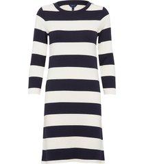d2. barstriped jersey dress knälång klänning multi/mönstrad gant