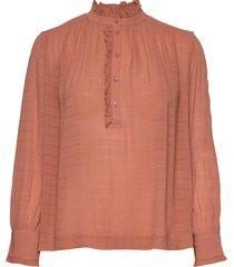 nina blouse lange mouwen oranje vanessa bruno