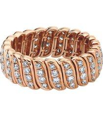 18k rose gold diamond zoe ring