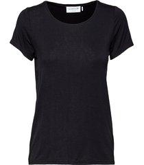 t-shirt ss t-shirts & tops short-sleeved svart rosemunde