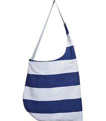 marynarski worek w pasy / torba plażowa