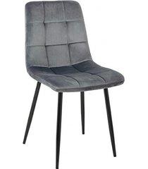krzesło tapicerowane aruba szare