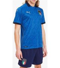 camiseta azul puma italia oficial
