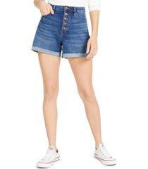 calvin klein jeans cuffed denim shorts