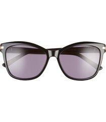 ted baker london 56mm gradient cat eye sunglasses in black at nordstrom