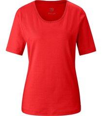 shirt ronde hals en korte mouwen van basler rood