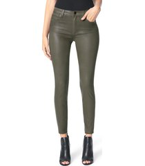 women's joe's the charlie coated ankle skinny jeans, size 25 - green