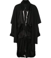 draped jacket black
