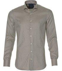 nils overhemd - body fit - bruin