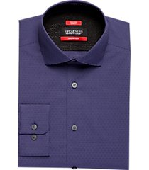 awearness kenneth cole awear-tech purple slim fit dress shirt