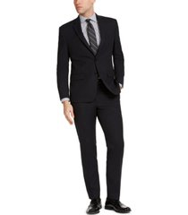 geoffrey beene men's classic-fit black micro-check suit
