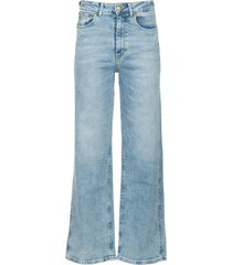 wide leg stretch jeans rachel  blauw