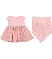 saída de maternidade paraiso tule bordado vestido rosa chá
