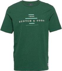 scotch & soda crew neck logo tee t-shirts short-sleeved grön scotch & soda