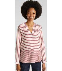 blusa de rayas rojo esprit