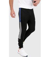 pantalón negro-blanco-azul adidas performance tiro 21