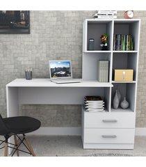 mesa escrivaninha 2 gavetas branco esc4002 - appunto