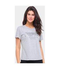 t-shirt morena rosa gola redonda detalhe termocolante inspire feminina