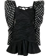 giuseppe di morabito structured shoulder mini dress - black
