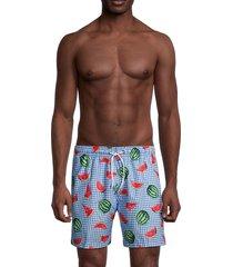 trunks surf + swim men's printed swim shorts - horizon blue - size xxl