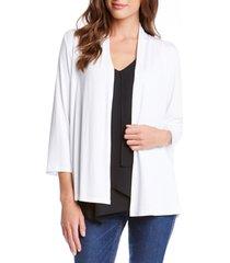 women's karen kane 'molly' open jersey cardigan, size x-small - white