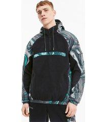 mercedes street hooded jack voor heren, zwart/aucun, maat xs | puma