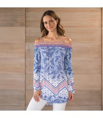 paisley scarf sunset beach tunic