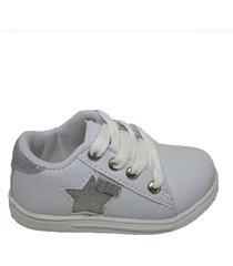 zapatilla blanca plata keek