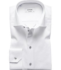 men's big & tall eton contemporary fit twill dress shirt, size 18 - white