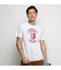 camiseta cavalera t shirt churrasco grego masculina