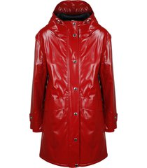 burberry coated jersey parka