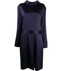 balenciaga back to front trench dress - purple