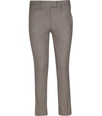 dondup patterned trousers