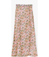 womens nobody bud you floral maxi skirt - white