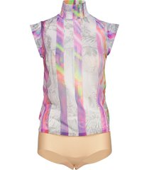 tulle body t-shirts & tops bodies multi/mönstrad wolford