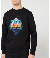 ps paul smith men's regular fit believe sweatshirt - black - s