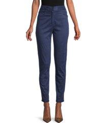 balmain women's high-rise jeans - blue - size 34 (2)
