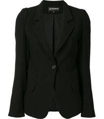 ann demeulemeester fitted classic blazer - black