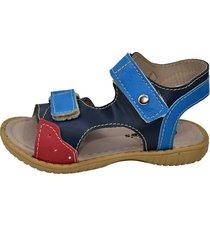 papete gotakids sandália velcro azul marinho e vermelho