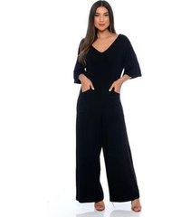 macacão pantalona b'bonnie lily feminino - feminino