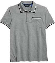 joe joseph abboud gray slim fit polo shirt