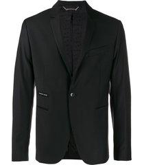 philipp plein cowboy blazer - black