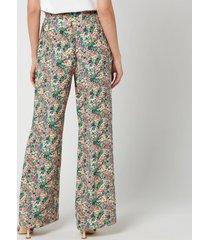 see by chloéwomen's floral wide leg trousers - multi - eu 38/uk 10