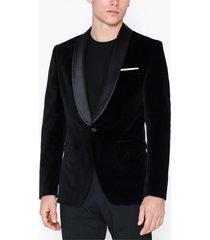 selected homme slhslim-hickvelvet black blz b kavajer & kostymer svart