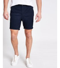 river island mens navy sid skinny shorts