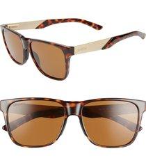 women's smith lowdown steel 56mm chromapop(tm) polarized sunglasses - dark tortoise/ brown