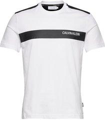 bold stripe logo t-shirt t-shirts short-sleeved vit calvin klein
